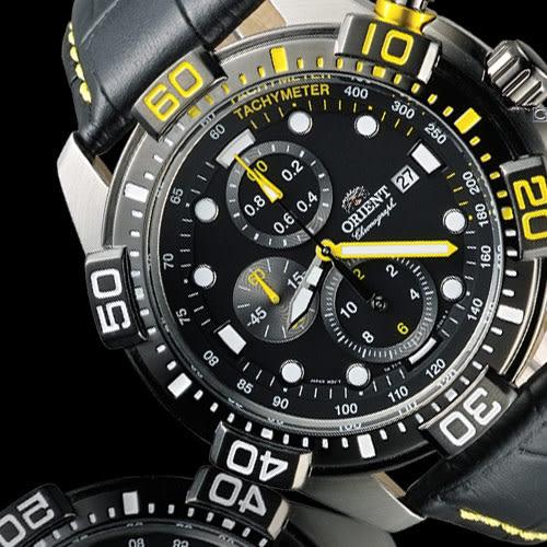 ORIENT 東方錶怒海急先鋒計時腕錶 FTT16005B 黑x黃