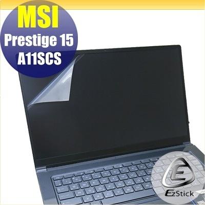 【Ezstick】MSI Prestige 15 A11SCS 靜電式筆電LCD液晶螢幕貼 (可選鏡面或霧面)