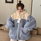 羊羔毛外套 羊羔毛可愛外套女秋冬季百搭ins寬鬆韓版溫柔慵懶風加絨加厚上衣 韓國時尚週