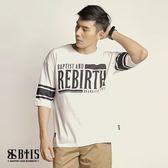 【BTIS】五分袖圓領T-shirt / 白色