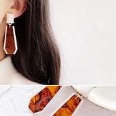 耳環 透明 漸層 花紋 吊墜 設計 個性 耳環【DD1711088】 ENTER  11/30