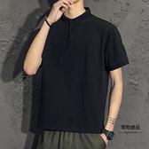 短袖T恤男士夏季男裝翻領polo衫半袖夏裝上衣服【聚物優品】