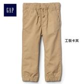Gap男嬰幼童 純棉鬆緊腰帆布運動褲 844696-工裝卡其