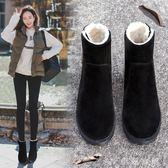 保暖雪地靴厚底粗跟加絨棉鞋防滑百搭馬丁靴女短靴子 伊鞋本鋪