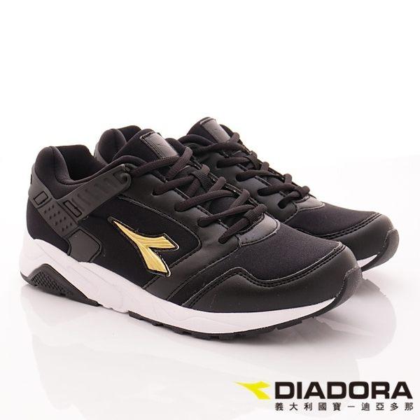 DIADORA-乳膠潮流慢跑鞋款-DA7AWC3810-黑-女段-(現+預)