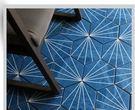 浴室六角地磚 花磚 深藍色瓷磚 拼花磚...