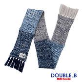 DOUBLE_B  漸層雪花編織圍巾(藏藍)