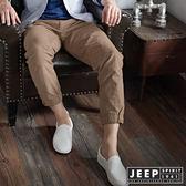 【JEEP】美式百搭抽繩束口工作褲 (卡其)