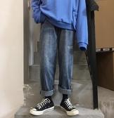 牛仔褲四季款韓版超火的字母復古港風直筒老爹牛仔褲寬鬆ulzzang男女聖誕交換禮物