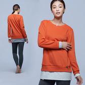 【MACACA】保暖層次長袖T-BRE3332(橘-雙麻灰)(保暖//休閒/日常/運動生活)