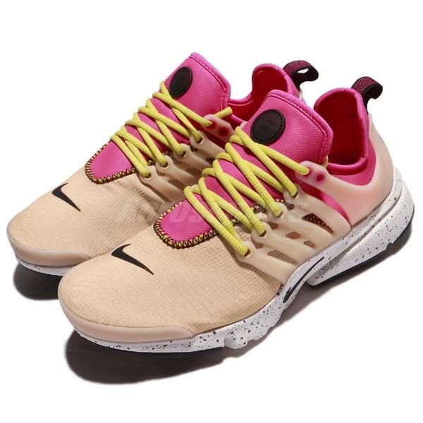 Nike 魚骨鞋 Wmns Air Presto Ultra SI 卡其 白 粉紅 襪套式 女鞋 運動鞋【ACS】 917694-200