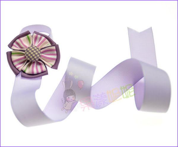 果漾妮妮 髮飾收納帶/髮夾的家.方便拿取.紫色條紋布扣款【E4035】