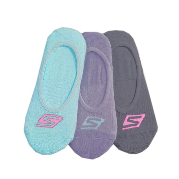 Skechers Neon Liner Sock [S101585-451] 女 船型襪 隱形襪 透氣舒適 3入 灰綠紫