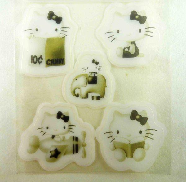 【震撼精品百貨】Hello Kitty 凱蒂貓~KITTY貼紙-透明黑-開飛機