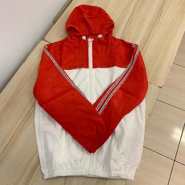 基本款修身休閒連帽風衣外套(XL號/121-4867)