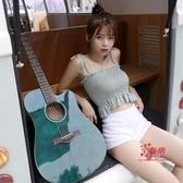 吉他 單板41寸吉他初學者女專用男學生40寸民謠吉他新手入門自學T 6色