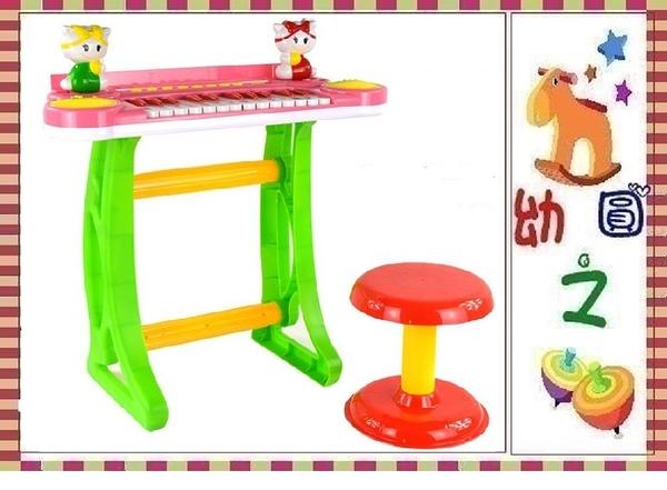 *幼之圓*卡通音樂電子琴~附椅子~兒童電子琴玩具