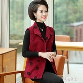 中老年女裝新款馬甲背心馬夾外套夾克中年媽媽裝寬鬆大碼時尚女 OO5『東京潮流』