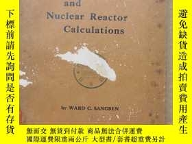 二手書博民逛書店digital罕見computers and nuclear reactor calculations(P643)