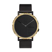 【FILA 斐樂】極簡風設計腕錶-黑金款/38-173-102/台灣總代理公司貨享兩年保固