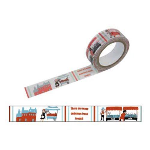 ★funbox生活用品★《Shinzi Katoh 加藤真治》和紙膠帶15mm(熱鬧市集) ZI02483