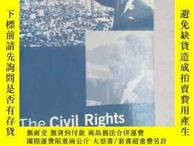 二手書博民逛書店THE罕見CIVIL RIGHTS MOVEMENT [外文--