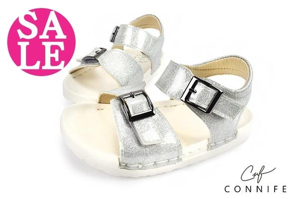 小童涼鞋 時尚吸晴 輕量 舒適 CONNIFE寶寶涼鞋 零碼出清 G6285#銀色◆OSOME奧森童鞋
