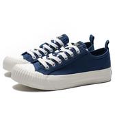 KANGOL 帆布 餅乾鞋 海軍藍 奶油底 休閒 女(布魯克林) 6952200180