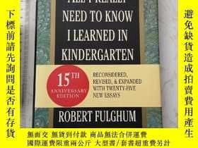 二手書博民逛書店All罕見I Really Need to Know I Learned in Kindergarten 精装
