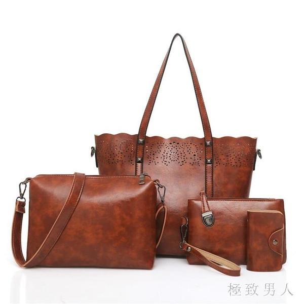 手提包2019秋新款韓版大容量單肩包女簡約子母包托特包斜挎包 XN6542【極致男人】