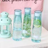 韓版創意情侶隨手杯學生男女隨行水杯大容量防摔塑料水瓶透明杯子