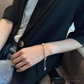 天然淡水珍珠手鏈女日韓氣質手串設計簡約冷淡風手飾【毒家貨源】