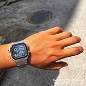 手錶方形電子手錶男女學生韓版數字式夜光防水運動多功能電子錶小金錶 衣間迷你屋