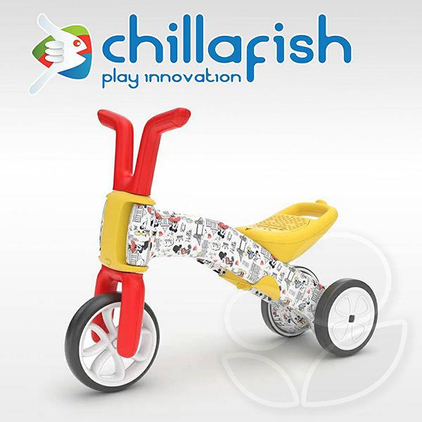 比利時 Chillafish Bunzi 寶寶學步平衡車/滑步車/三輪車-米奇米妮【佳兒園婦幼館】
