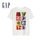 Gap男童漫威主題印花圓領短袖T恤586389-光感亮白