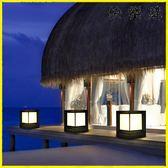 庭院燈 太陽能燈柱頭燈戶外防水庭院燈