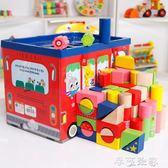 兒童積木玩具1-2-3-6周嬰兒益智一歲半男孩寶寶木質大塊積木女孩 摩可美家
