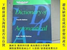 二手書博民逛書店Dictionary罕見of Aeronautical Term