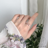 甜美花朵戒指女小清新鋯石開口可調節食指環戒子【貼身日記】
