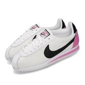 Nike 阿甘鞋 Wmns Classic Cortez PREM 白 粉紅 復古慢跑鞋 運動鞋 女鞋【ACS】 905614-106