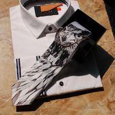 梅林時尚貓頭鷹騎士領帶正裝休閒新郎禮物結婚聚會晚
