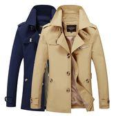 (百貨週年慶)風衣外套夾克男裝棉質衣服大尺碼修身商務外衣中長版風衣