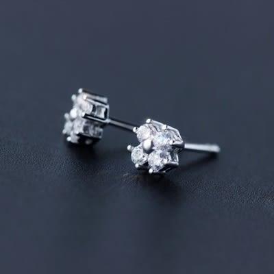 925純銀耳環(耳針式)-時尚甜美花朵生日情人節禮物女飾品73dr68[時尚巴黎]