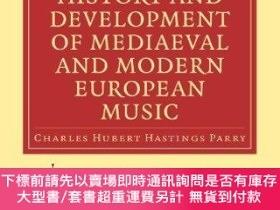 二手書博民逛書店Summary罕見Of The History And Development Of Medieval And M