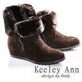 ★2016秋冬★Keeley Ann極地暖暖風拉鍊內增高短靴(咖啡色)