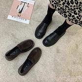 樂福鞋 英倫風小皮鞋女2021春秋新款平底鞋女單鞋復古一腳蹬豆豆鞋樂福鞋 suger