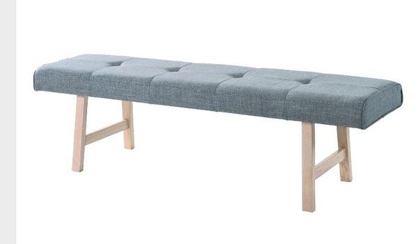 【南洋風休閒傢俱】設計單椅系列- 烏托邦實木布長餐椅 長椅凳 木腳椅 JX246-9