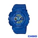 【CASIO】 G-SHOCK BABY-G 夏日街頭機械風活力女孩運動錶-藍 BA-110BC-2ADR
