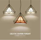 北歐簡約餐廳吊燈創意三頭loft燈具...