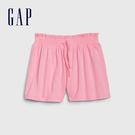 Gap女幼童 甜美風格褶皺鬆緊短褲 540730-螢光粉